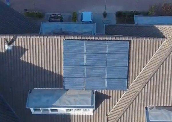 Houtkade Den Haag: 12 panelen SolarWatt glas/glas