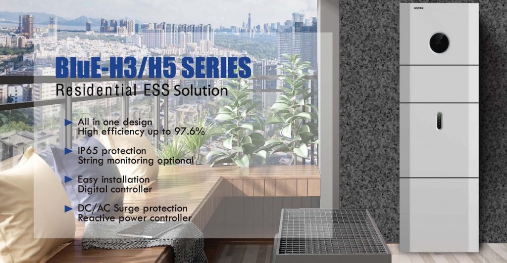 KStar BluE H3 en H5 Hybride omvormers met thuisbatterij