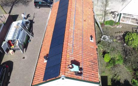 Boorsmastraat Katwijk: 22 panelen SolarWatt