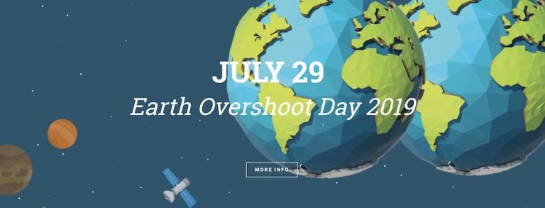 Earth Overshoot Day 2019 is 29 juli