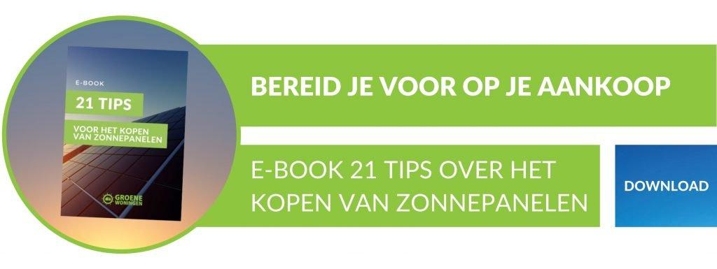 Download e-book 21 tips over zonnepanelen